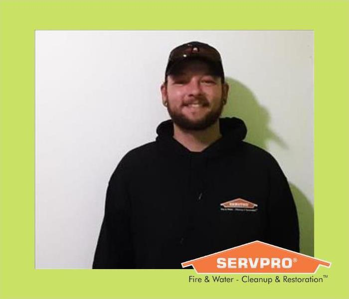Toby Emmons, a valued SERVPRO of Henry County Employee, male employee with baseball cap on